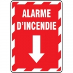 "Accuform FRMFXG904XF, Aluminum French Sign ""Alarme D'incendie"""