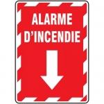 "Accuform FRMFXG904XL, Aluminum French Sign ""Alarme D'incendie"""