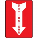 "Accuform FRMFXG937VS, Adhesive Vinyl French Sign ""Extincteur"""