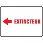 "Accuform FRMFXG938XF, French Sign ""Extincteur"" & Left Arrow Symbol"