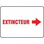 "Accuform FRMFXG939XF, French Sign ""Extincteur"" & Rignt Arrow Symbol"