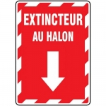 "Accuform FRMFXG940XF, French Sign ""Extincteur Au Halon"""