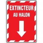"""Accuform FRMFXG941VS, Adhesive Vinyl French Sign """"Extincteur Au Halon"""""""
