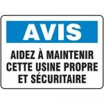 "Accuform FRMHSK812XF, French Sign ""Avis Aidez a Maintenir…"""