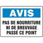 """Accuform FRMHSK843XF, French Sign """"Pas De Nourriture Ni De …"""""""