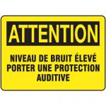 "Accuform FRMPPA672XF, Sign ""Niveau De Bruit Eleve Porter Une…"""