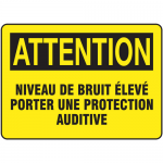 "Accuform FRMPPA673XF, Sign ""Niveau De Bruit Eleve Porter Une…"""