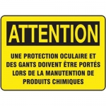 "Accuform FRMPPA676XL, French Sign ""Une Protection Oculaire…"""