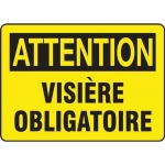 "Accuform FRMPPA677XT, Dura-Plastic French Sign ""Visiere Obligatoire"""