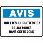 """Accuform FRMPPA822XL, Sign """"Lunettes De Protection Obligatoires…"""""""