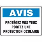 """Accuform FRMPPA826VS, Sign """"Protegez Vos Yeux Portez Une …"""""""