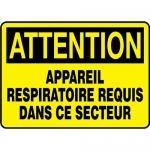 "Accuform FRMPPE442VS, OSHA Sign ""Appareil Respiratoire Requis Dans…"""