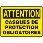"Accuform FRMPPE697XL, French Sign ""Casques De Protection Obligatoires"""