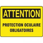 "Accuform FRMPPE791XT, French Sign ""Protection Oculaire Obligatoires"""
