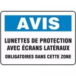 """Accuform FRMPPE830XF, Sign """"Lunettes De Protection Avec Ecrans…"""""""