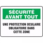 "Accuform FRMPPE929XL, Sign ""Une Protection Oculaire Obligation…"""
