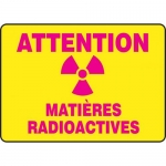 "Accuform FRMRAD503XT, French Sign ""Attention Matieres Radioactives"""