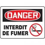 "Accuform FRMSMK026XL, Aluma-Lite French Sign ""Interdit De Fumer"""