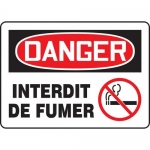 "Accuform FRMSMK026XT, Dura-Plastic French Sign ""Interdit De Fumer"""