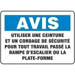 """Accuform FRMSTF800XL, Sign """"Utiliser Une Ceinture Et Un Cordage De…"""""""