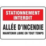 "Accuform FRMVHR955XF, Sign ""Allee D'incendie Maintenir Libre En…"""