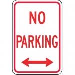 "Accuform FRP113RA, Aluminum Sign ""No Parking"" & Double Arrow Symbol"