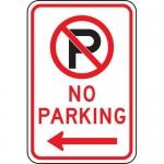 "Accuform FRP120RA, Parking Sign ""No Parking"" & Left Arrow Symbol"
