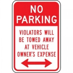 "Accuform FRP172RA, Reflective Sign ""No Parking Violators Will…"""