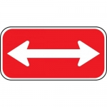 Accuform FRP179RA, Reflective Aluminum Sign with Double Arrow Symbol
