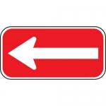 Accuform FRP180RA, Reflective Aluminum Sign with Left Arrow Symbol