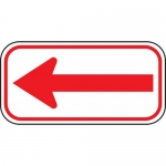 Accuform FRP182RA, Reflective Parking Sign with Left Arrow Symbol