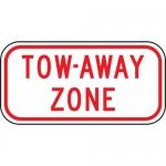"Accuform FRP184RA, Reflective Aluminum Sign ""Tow Away Zone"""