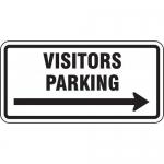 "Accuform FRP199RA, Engineer Grade Prismatic Sign ""Visitors Parking"""