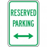 """Accuform FRP208RA, Sign """"Reserved Parking"""" & Double Arrow Symbol"""