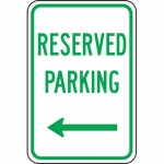 "Accuform FRP210RA, Sign ""Reserved Parking"" & Left Arrow Symbol"