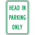 """Accuform FRP221RA, Reflective Aluminum Sign """"Head in Parking Only"""""""