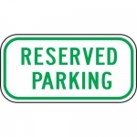"""Accuform FRP285RA, Reflective Aluminum Sign """"Reserved Parking"""""""
