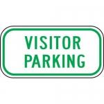 "Accuform FRP286RA, Reflective Aluminum Sign ""Visitor Parking"""