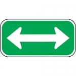 "Accuform FRP288RA, Reflective Aluminum Sign ""Double Arrow Symbol"""