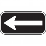 Accuform FRP290RA, Reflective Aluminum Sign Left Arrow Symbol