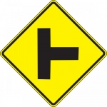 """Accuform FRW403DP, DG High Prism Sign """"Right Side Road Symbol"""""""