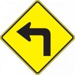 "Accuform FRW412DP, 24″ x 24″ DG High Prism Sign: ""Left Turn Symbol"""
