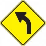"Accuform FRW414DP, 24″ x 24″ DG High Prism Sign: ""Left Curve Symbol"""