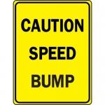 "Accuform FRW423DP, DG High Prism Sign ""Caution – Speed Bump"""