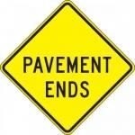 """Accuform FRW430DP, 24″ x 24″ DG High Prism Sign: """"Pavement Ends"""""""