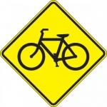 "Accuform FRW449DP, 24″ x 24″ DG High Prism Sign: ""Bicycle Symbol"""