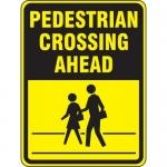"Accuform FRW519DP, DG High Prism Sign ""Pedestrian Crossing Ahead"""