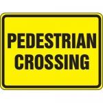 "Accuform FRW523DP, 18″ x 24″ DG High Prism Sign: ""Pedestrian Crossing"""