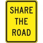 """Accuform FRW533DP, 24″ x 18″ DG High Prism Sign: """"Share The Road"""""""