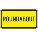 "Accuform FRW545DP, 12″ x 24″ DG High Prism Sign: ""Roundabout"""